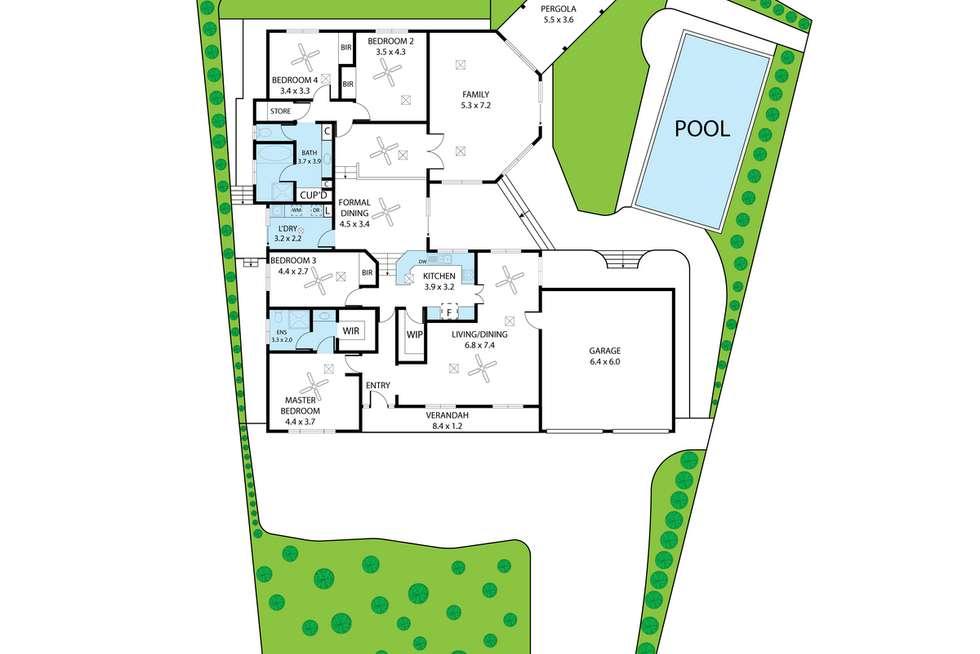Floorplan of Homely house listing, 2 Grylls Court, Wynn Vale SA 5127
