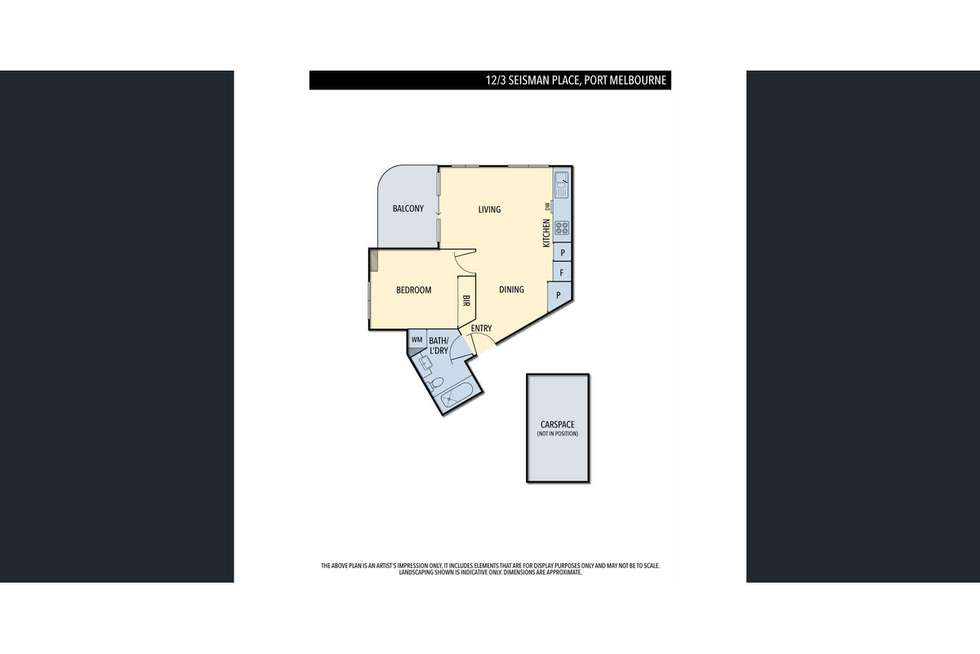Floorplan of Homely apartment listing, 12/3 Seisman Place, Port Melbourne VIC 3207