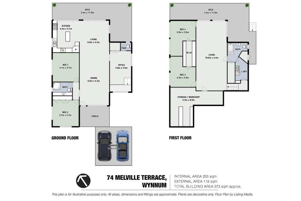 Floorplan of Homely house listing, 74 Melville Terrace, Wynnum QLD 4178