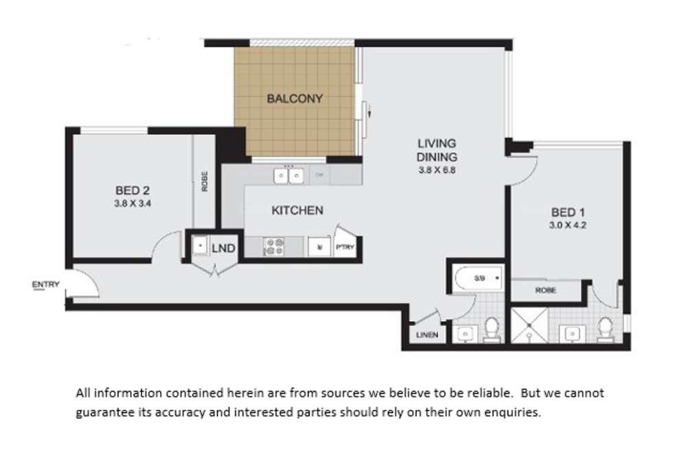 Floorplan of Homely apartment listing, 42/37 Campbell Street, Parramatta NSW 2150