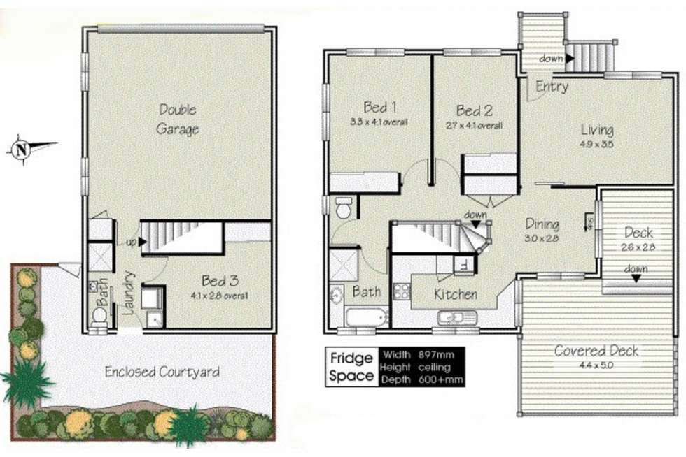 Floorplan of Homely townhouse listing, 3/31 Osterley Road, Carina Heights QLD 4152