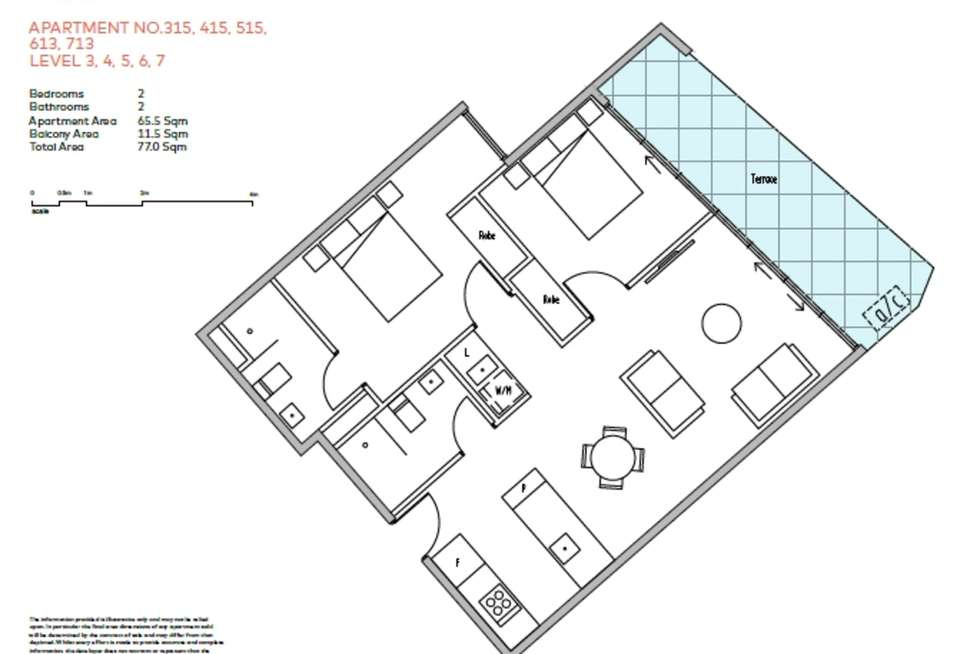 Floorplan of Homely apartment listing, 415/1228 Nepean Highway, Cheltenham VIC 3192
