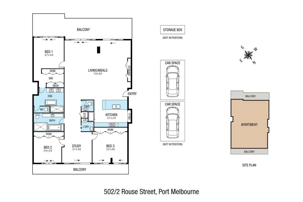Floorplan of Homely apartment listing, 502/2 Rouse Street, Port Melbourne VIC 3207