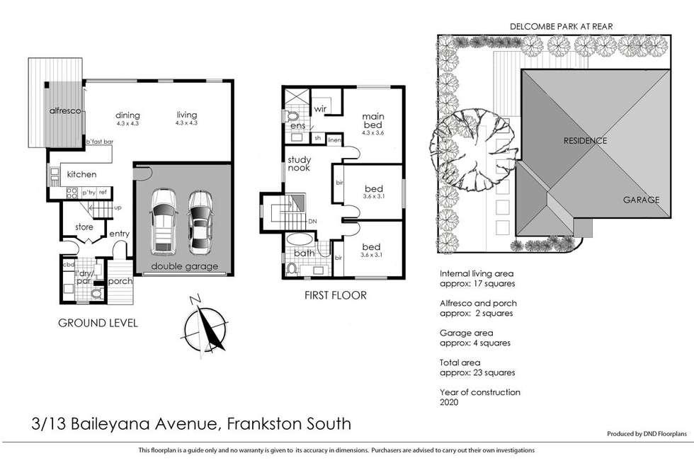 Floorplan of Homely townhouse listing, 3/13 Baileyana Street, Frankston South VIC 3199