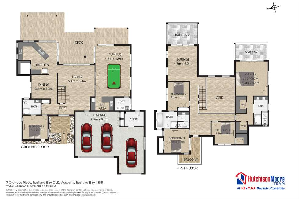 Floorplan of Homely house listing, 7 Orpheus Place, Redland Bay QLD 4165