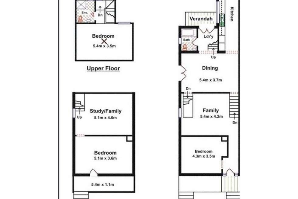 Floorplan of Homely house listing, 5 Harris Street, Norwood SA 5067