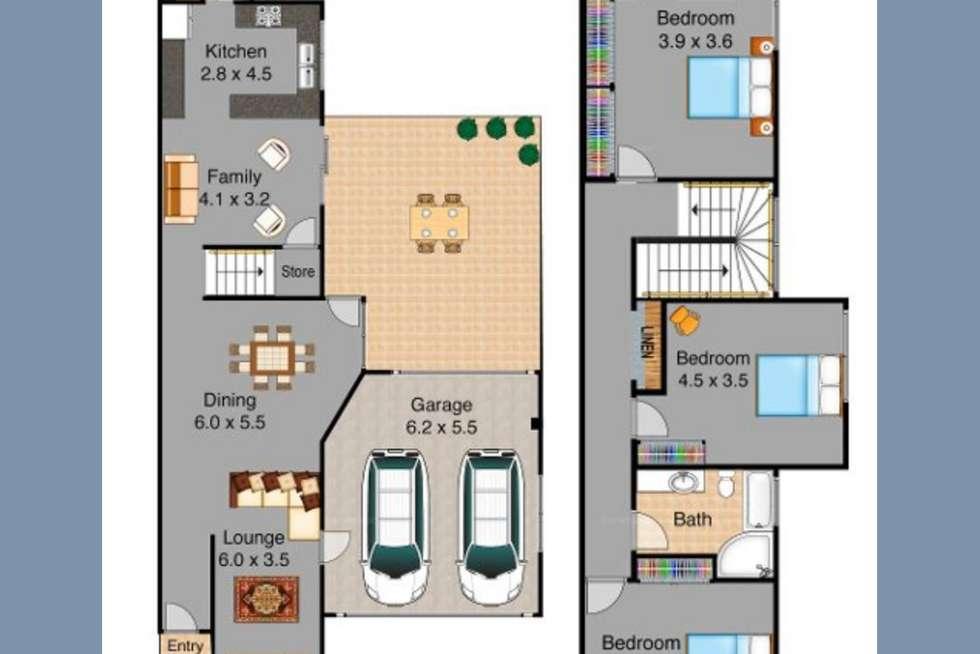 Floorplan of Homely townhouse listing, 2/11 Harrington Avenue, Castle Hill NSW 2154