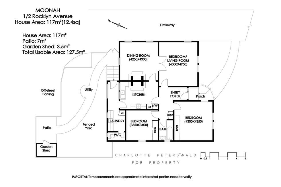 Floorplan of Homely villa listing, 1/2 Rocklyn Avenue, Moonah TAS 7009