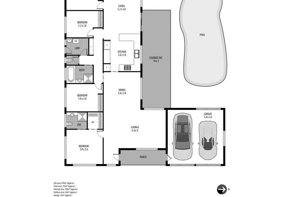 Floorplan of Homely house listing, 12 Pemberton Boulevard, Lisarow NSW 2250