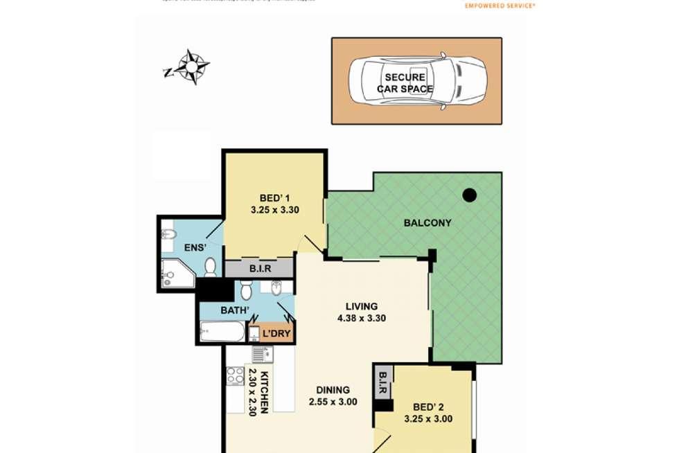 Floorplan of Homely apartment listing, 403/12-16 Romsey Street, Waitara NSW 2077