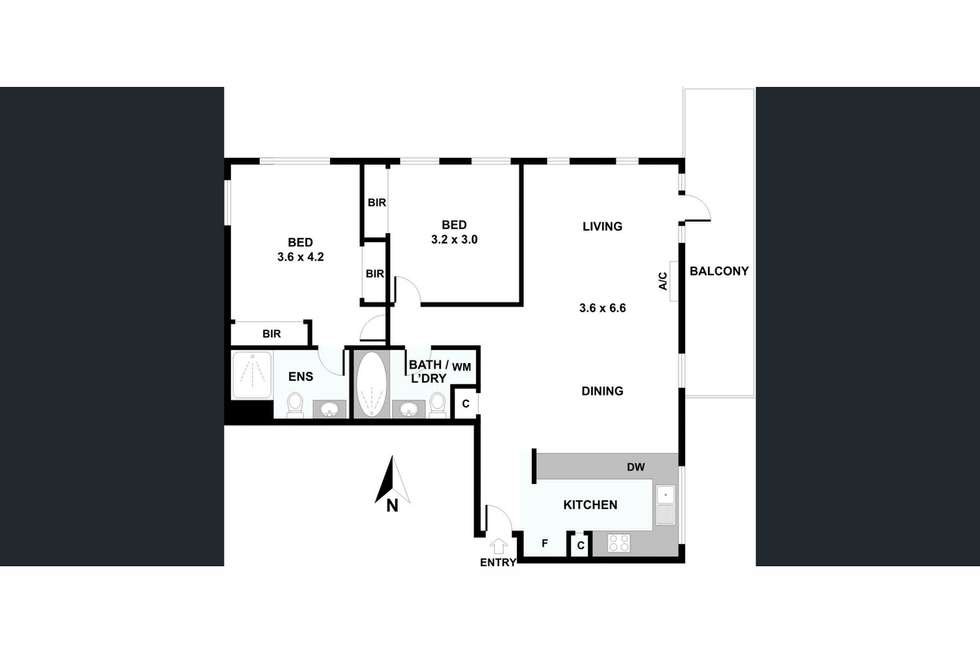 Floorplan of Homely apartment listing, 38/1 Graham Street, Port Melbourne VIC 3207