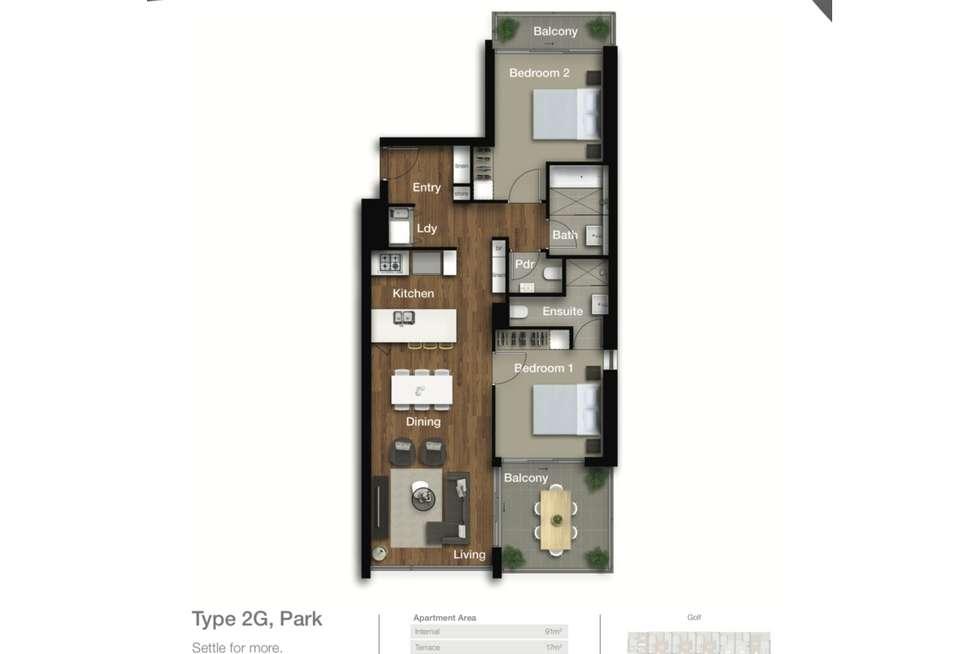 Floorplan of Homely apartment listing, 5401/331 MacArthur Avenue, Hamilton QLD 4007