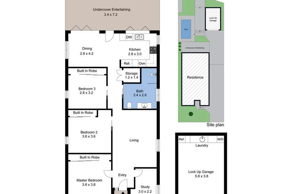 Floorplan of Homely house listing, 8 Bailey Street, Adamstown NSW 2289
