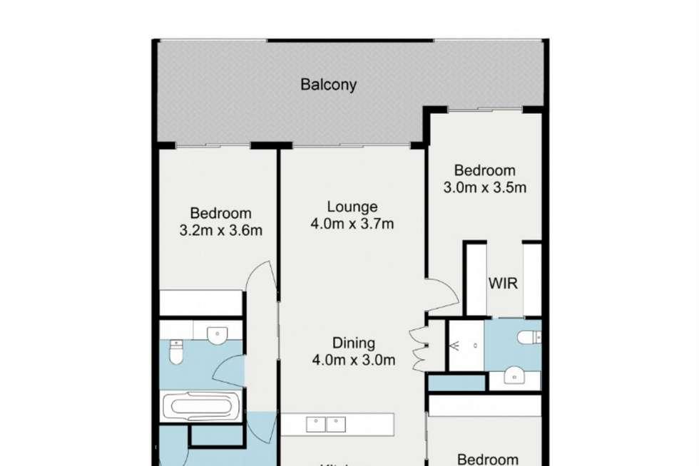 Floorplan of Homely apartment listing, 7088/7 Parkland Boulevard, Brisbane City QLD 4000