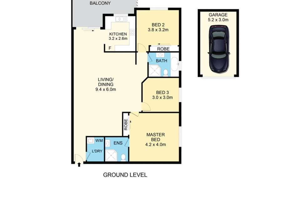 Floorplan of Homely apartment listing, 2/40-46 Station Road, Auburn NSW 2144