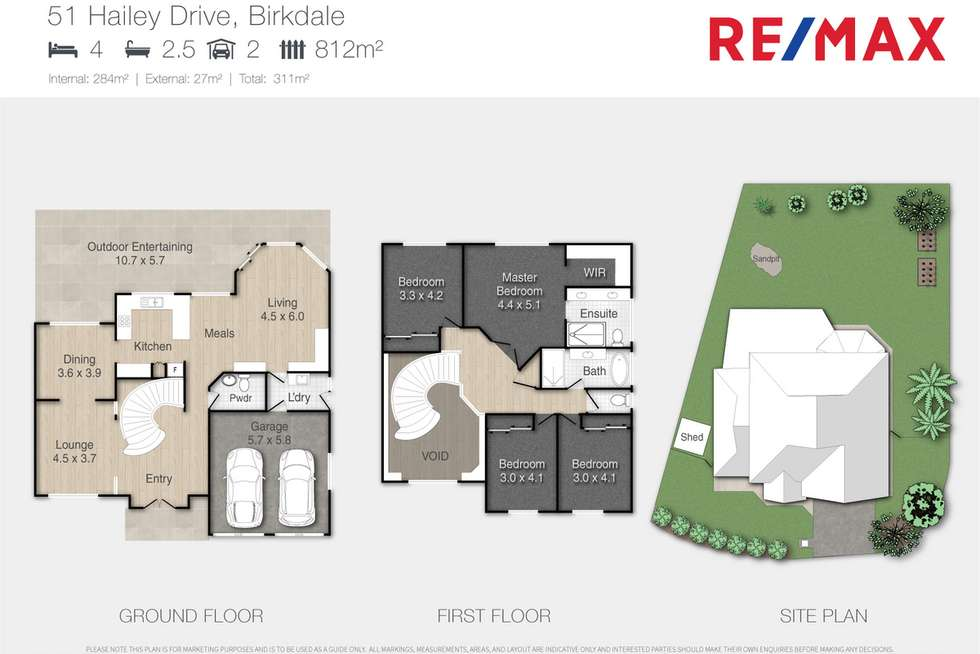 Floorplan of Homely house listing, 51 Hailey Drive, Birkdale QLD 4159