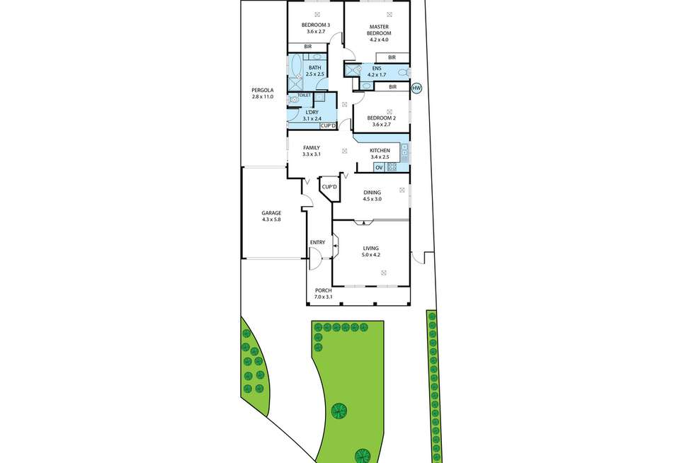 Floorplan of Homely house listing, 11A Meadow Lane, Gulfview Heights SA 5096