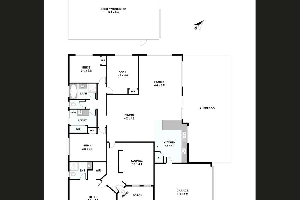 Floorplan of Homely house listing, 14 Putting Green, Maddington WA 6109