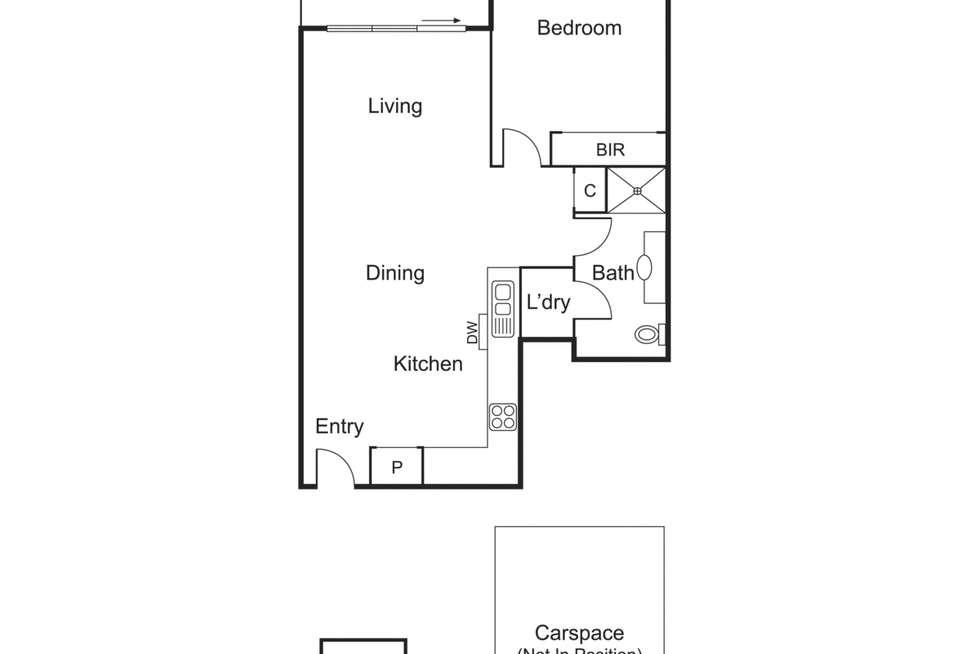 Floorplan of Homely apartment listing, 33/8 Graham Street, Port Melbourne VIC 3207
