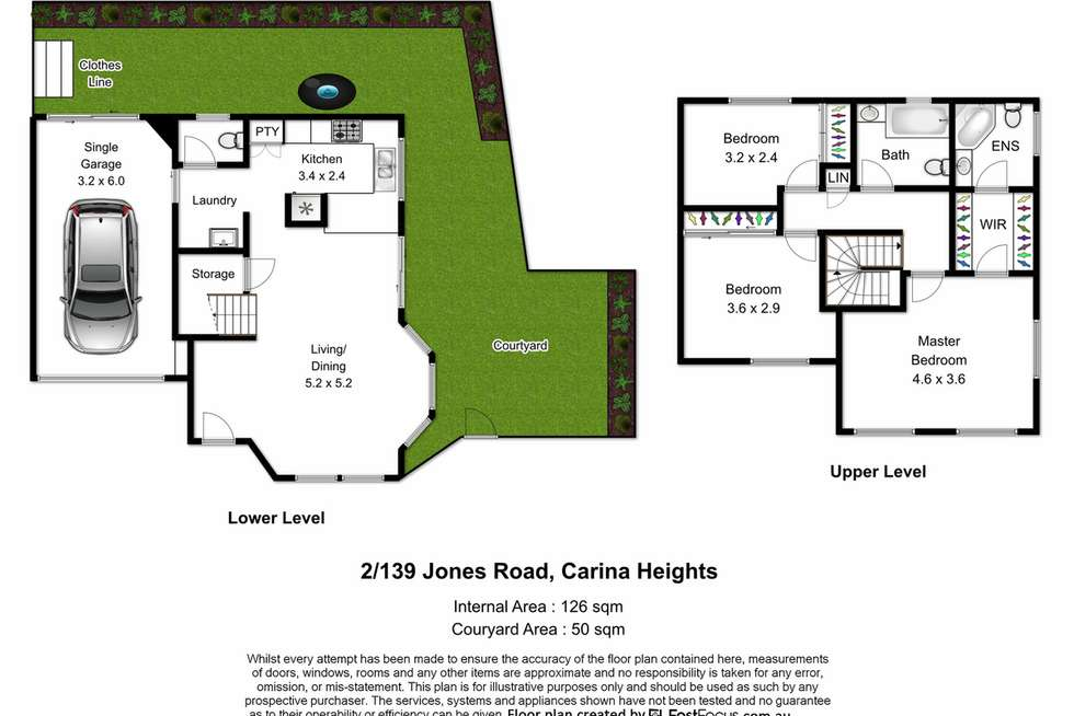 Floorplan of Homely townhouse listing, 2/139 Jones Road, Carina Heights QLD 4152