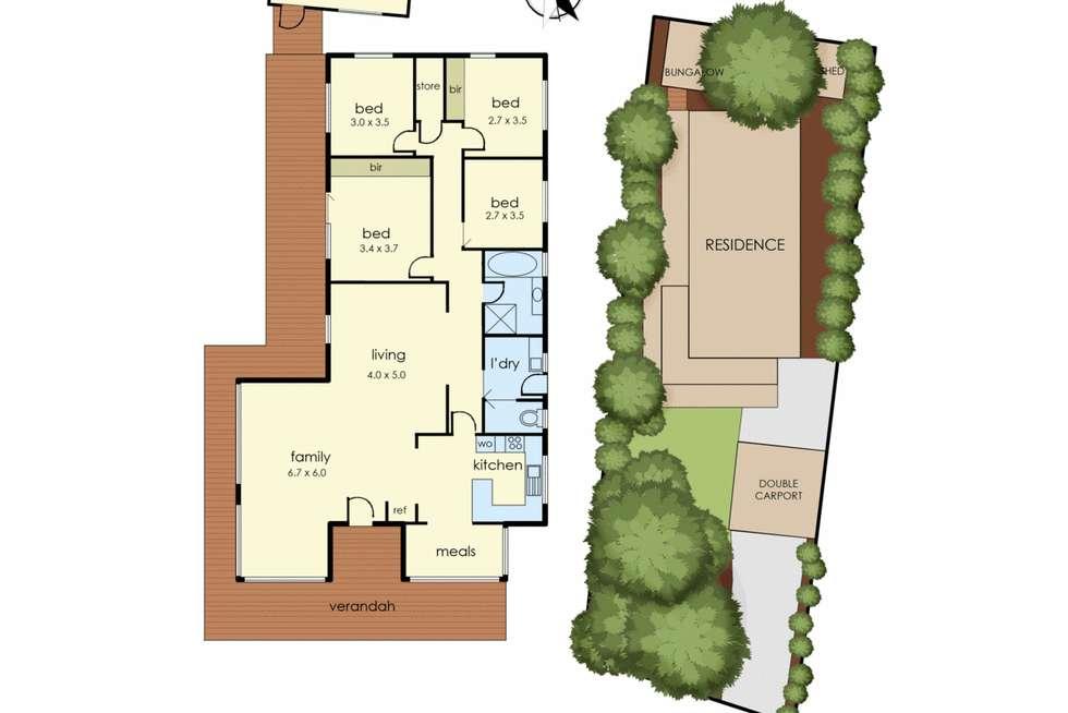 Floorplan of Homely house listing, 21 Nursery Avenue, Frankston VIC 3199