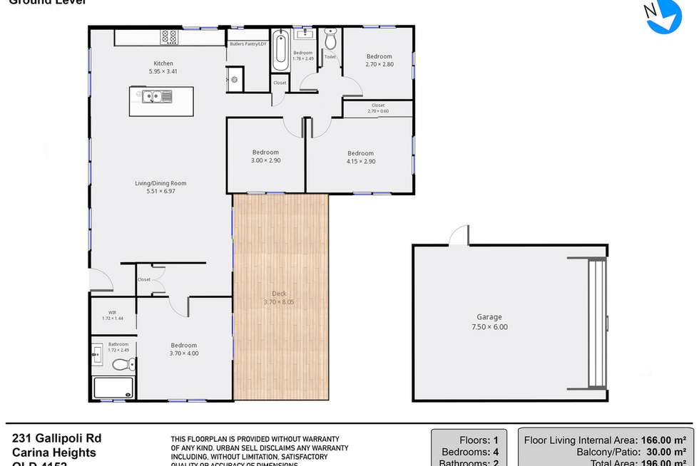 Floorplan of Homely house listing, 231 Gallipoli Road, Carina Heights QLD 4152