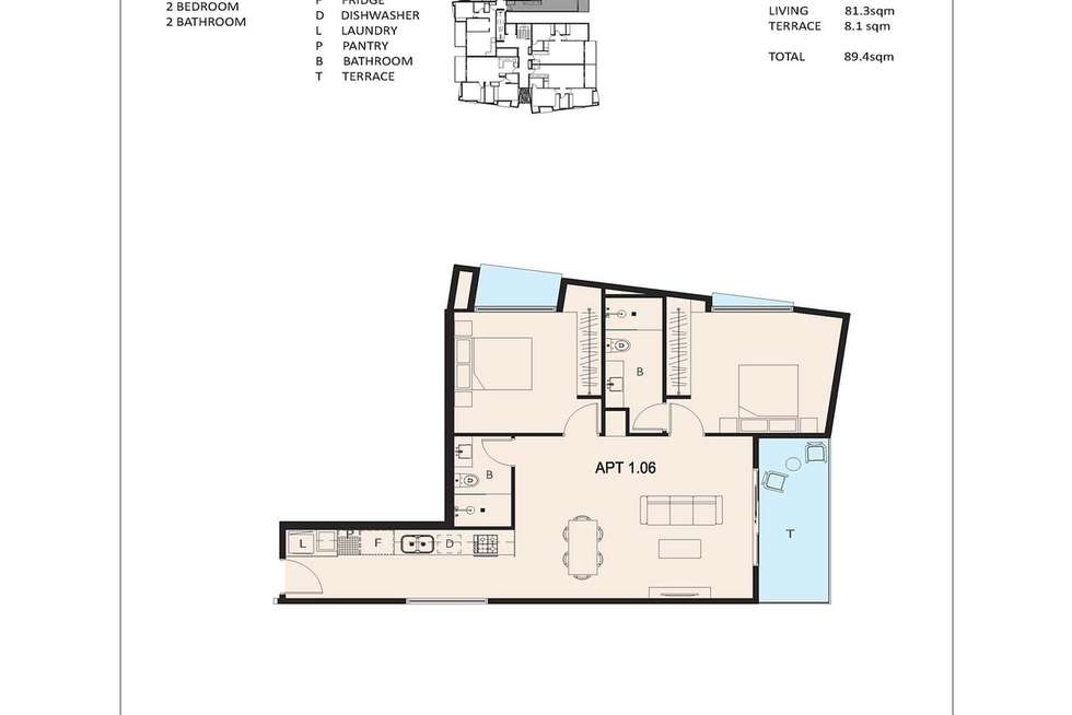 Floorplan of Homely apartment listing, 106/651 Moreland Road, Pascoe Vale South VIC 3044