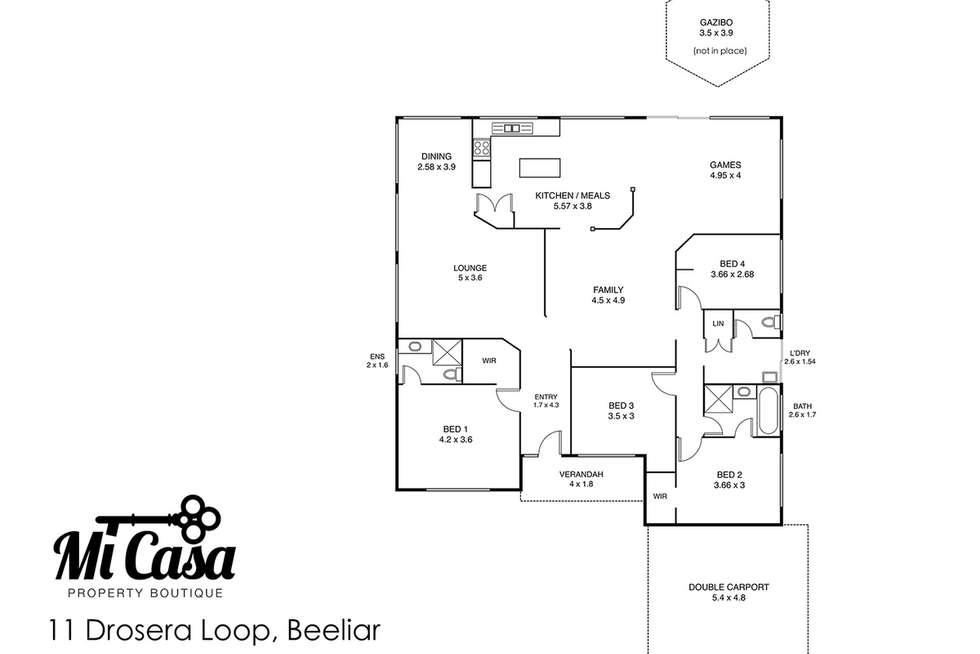Floorplan of Homely house listing, 11 Drosera Loop, Beeliar WA 6164