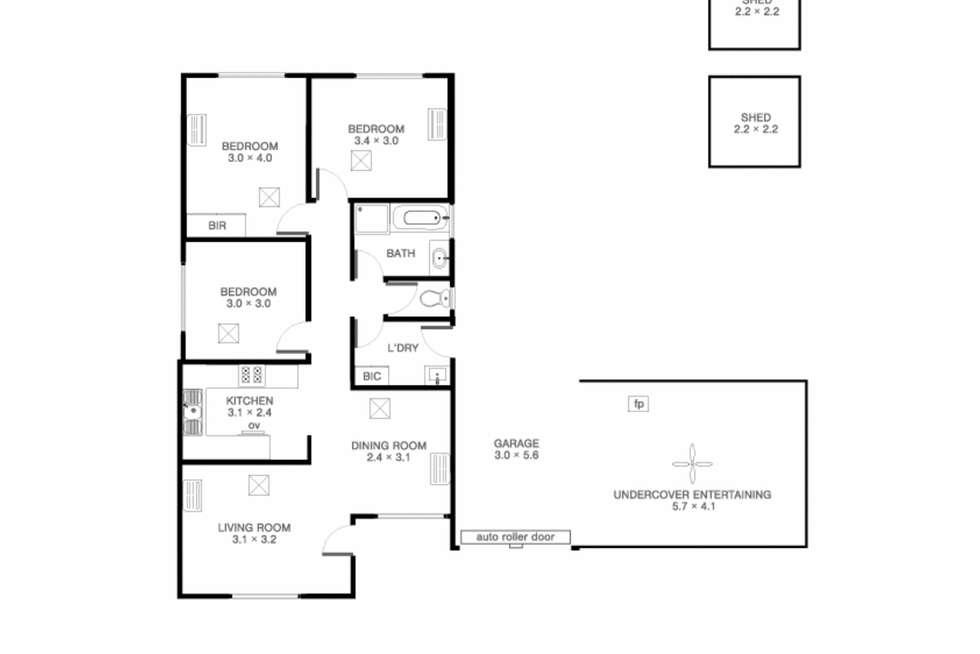 Floorplan of Homely house listing, 34 Browne Circuit, Craigmore SA 5114