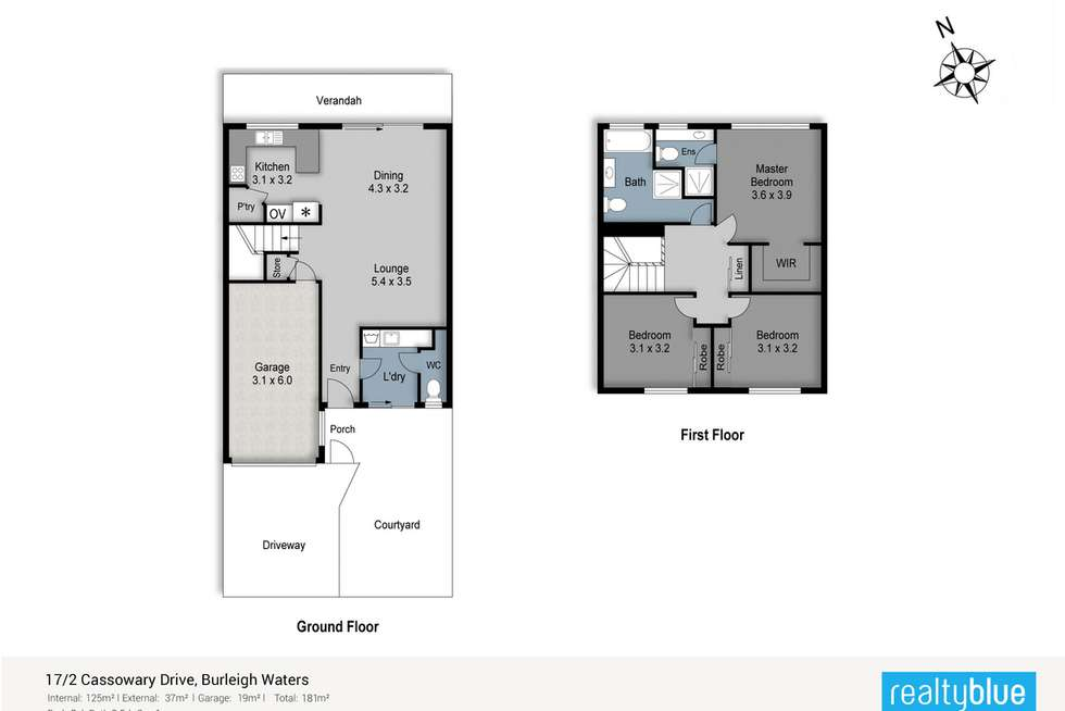 Floorplan of Homely townhouse listing, 17/2 Cassowary Drive, Burleigh Waters QLD 4220
