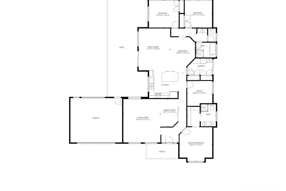 Floorplan of Homely house listing, 4 Falcon Circuit, Wodonga VIC 3690