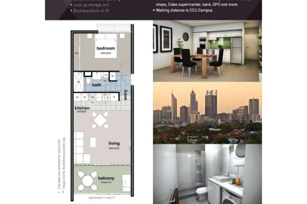 Floorplan of Homely apartment listing, 1/26 Little Walcott Street, North Perth WA 6006