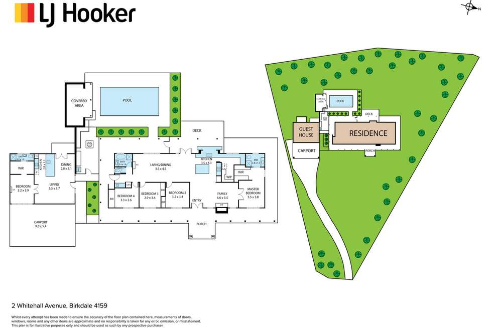 Floorplan of Homely house listing, 2 Whitehall Avenue, Birkdale QLD 4159