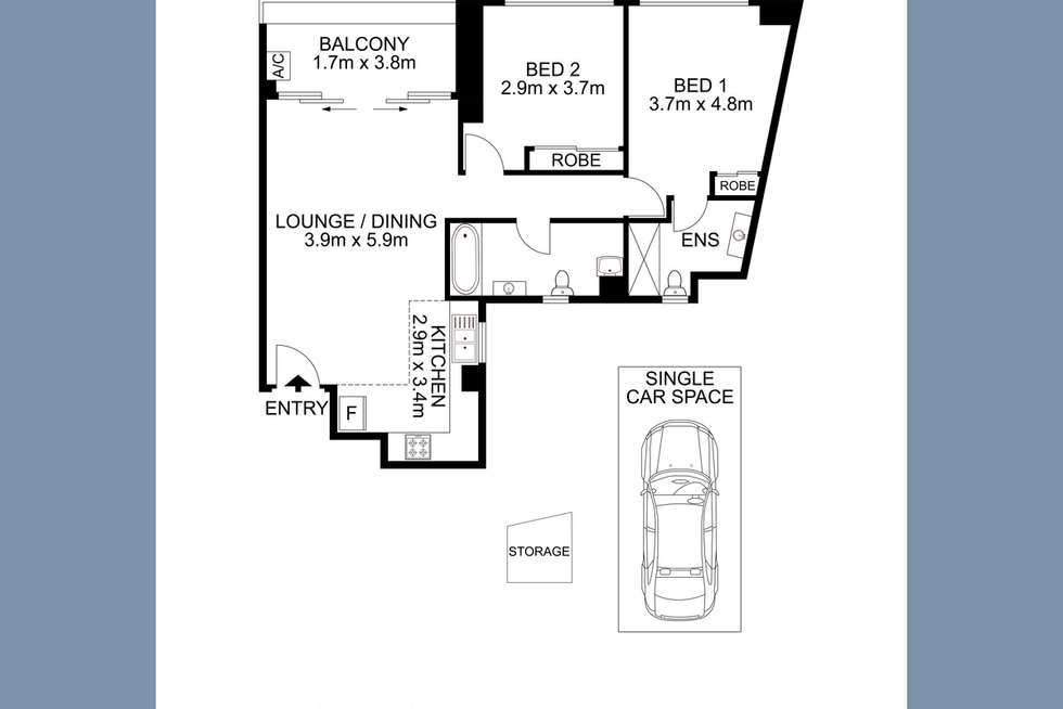 Floorplan of Homely apartment listing, 1002/6-10 Charles Street, Parramatta NSW 2150
