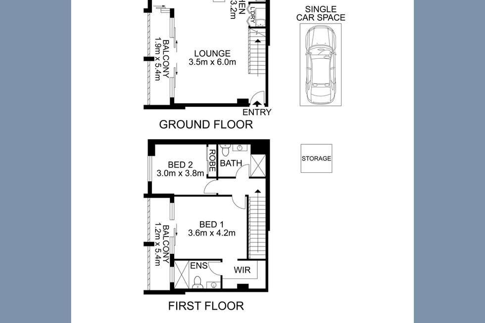 Floorplan of Homely apartment listing, 62/20 Victoria Road, Parramatta NSW 2150