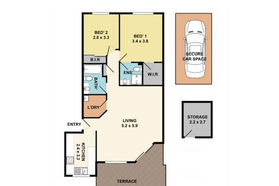 Floorplan of Homely unit listing, 14/1-5 Linda Street, Hornsby NSW 2077
