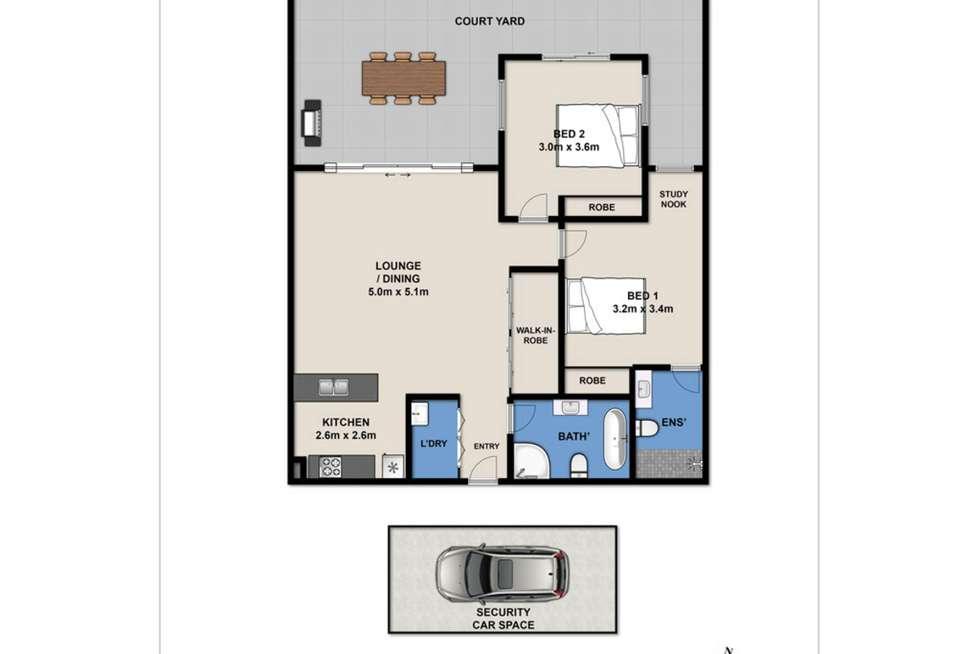 Floorplan of Homely apartment listing, 3/5-15 Boundary Street, Roseville NSW 2069