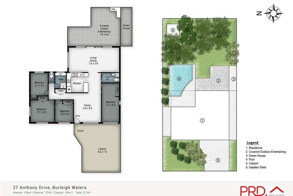 Floorplan of Homely house listing, 27 Anthony Drive, Burleigh Waters QLD 4220
