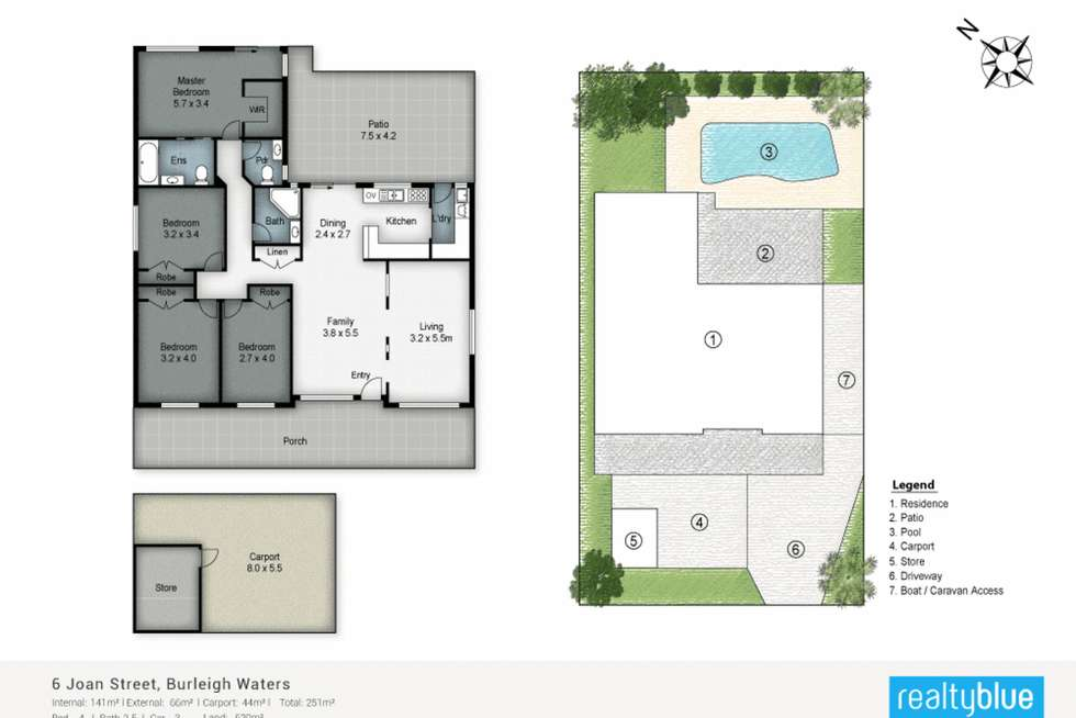 Floorplan of Homely house listing, 6 Joan Street, Burleigh Waters QLD 4220