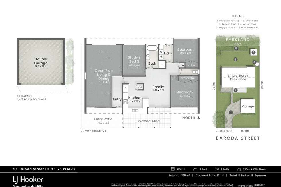 Floorplan of Homely house listing, 57 Baroda Street, Coopers Plains QLD 4108