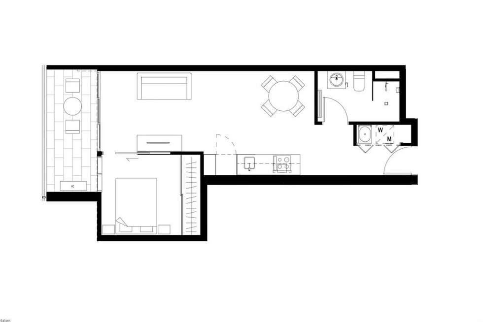 Floorplan of Homely apartment listing, G22/8 Garfield Street, Richmond VIC 3121