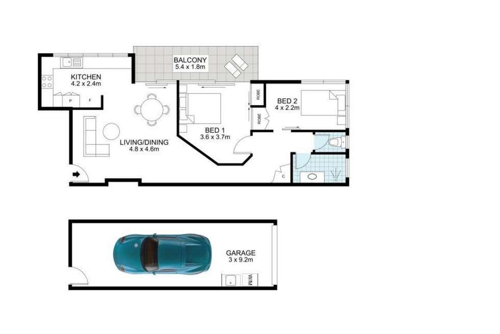 Floorplan of Homely apartment listing, 6/17 Kingsford Street, Auchenflower QLD 4066