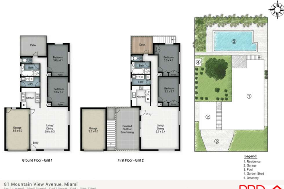 Floorplan of Homely semiDetached listing, 2/81 Mountain View Avenue, Miami QLD 4220