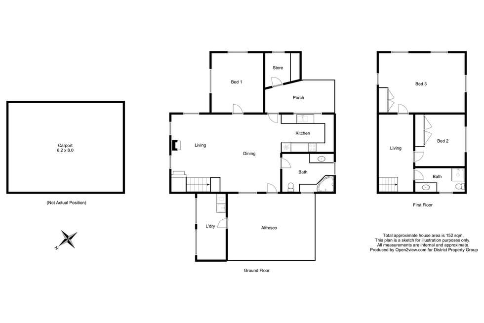 Floorplan of Homely house listing, 4 Purcell Drive, Merrijig VIC 3723