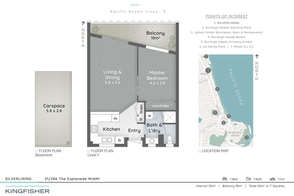 Floorplan of Homely unit listing, 21/286 The Esplanade, Miami QLD 4220