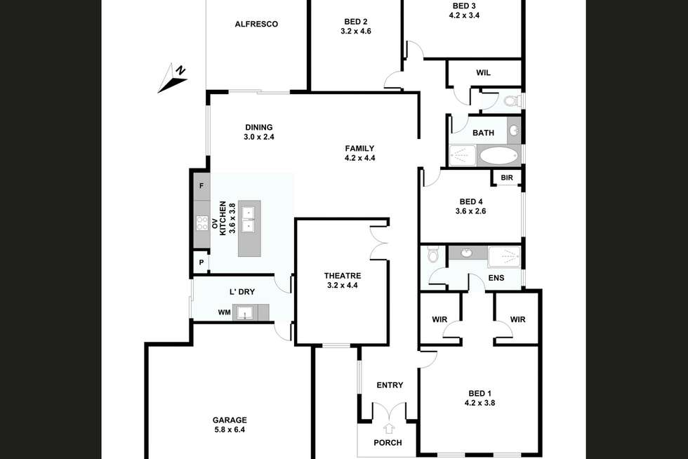 Floorplan of Homely house listing, 1/309 Wharf Street, Queens Park WA 6107