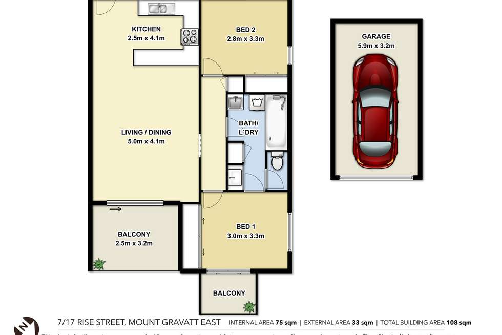 Floorplan of Homely unit listing, 7/17 Rise Street, Mount Gravatt East QLD 4122
