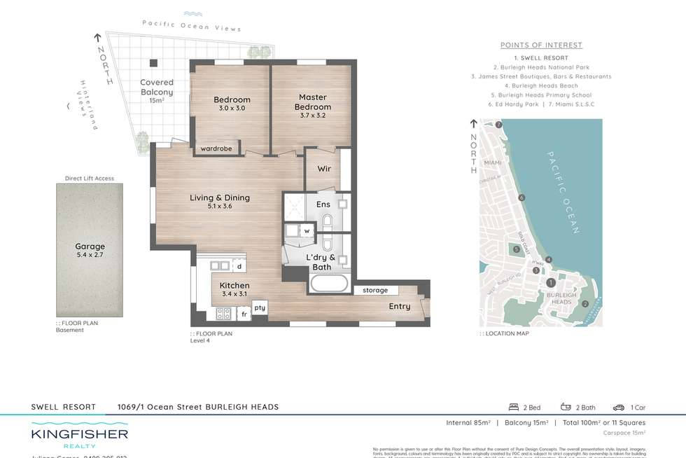 Floorplan of Homely unit listing, 1069/1 Ocean Street, Burleigh Heads QLD 4220