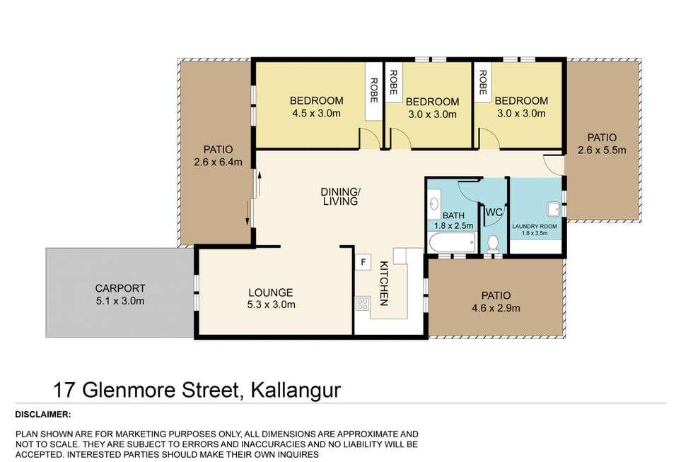 Floorplan of Homely house listing, 17 Glenmore Street, Kallangur QLD 4503