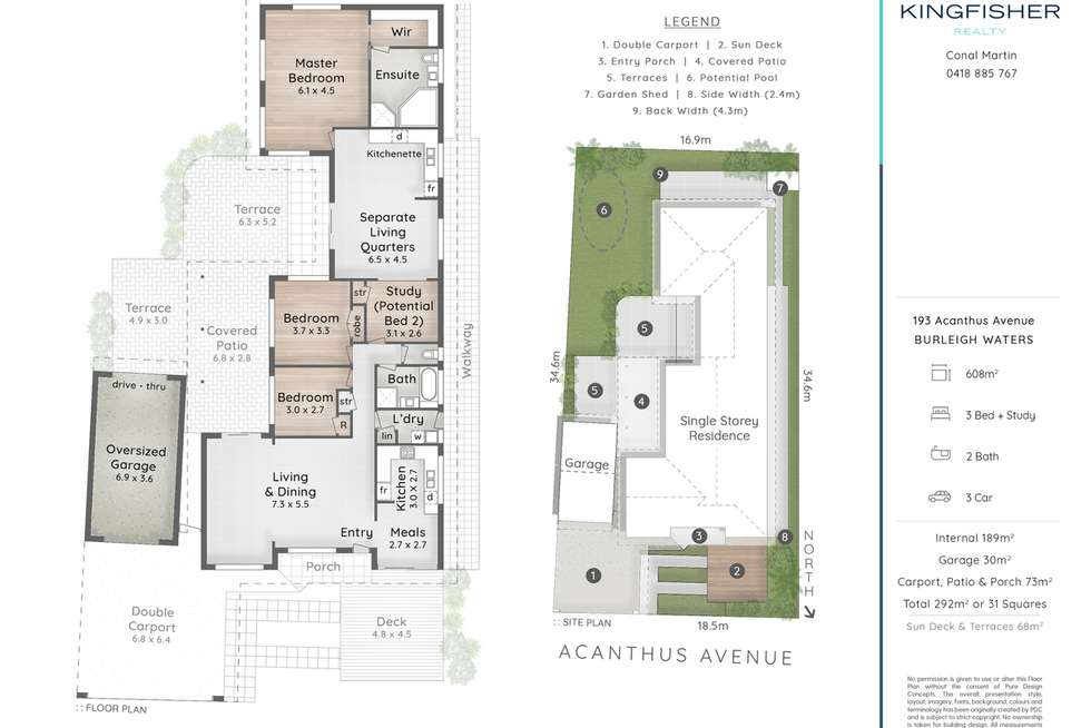 Floorplan of Homely house listing, 193 Acanthus Avenue, Burleigh Waters QLD 4220